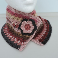 Crochet Cowl, Neck Warmer Snood