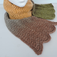 Knitted Scarf Autumn Colours