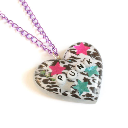 Glitter Punk - Resin Necklace