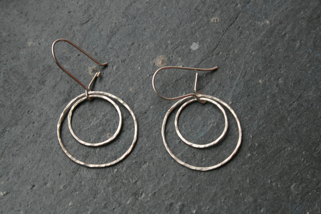 Circles within circles - earrings