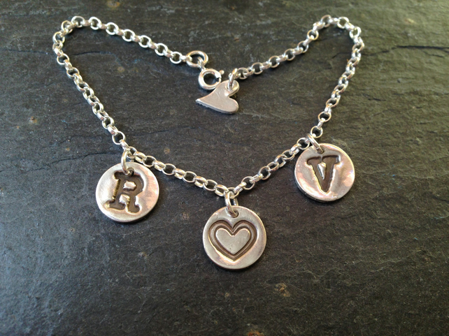Design your own silver charm bracelet - 3 charm