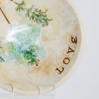 Pottery Bowl Love Wedding Engagement Gift Eco Ring Holder Bearer Dish Favour