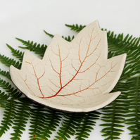 Leaf Bowl Modern Ceramic Unique Home Decoration Pottery Clay Hold all Dish