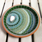 Verdant Ripple Mosaic Bird Bath