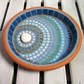 Moonlight Ripple Mosaic Garden Bird Bath