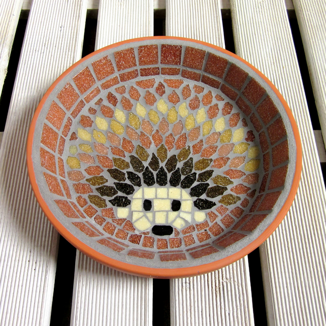 Mosaic Harvest Hedgehog Water Dish