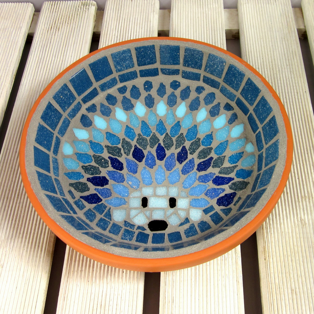 Mosaic Moonlight Hedgehog Water Dish
