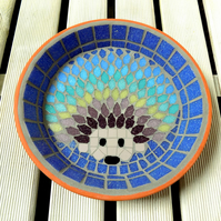 Mosaic Rainbow Hedgehog Water Dish