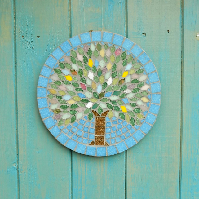 Spring Jewel Tree Hanging Garden Wall Plaque Decoration