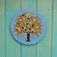 Autumn Jewel Tree Hanging Garden Wall Plaque Decoration