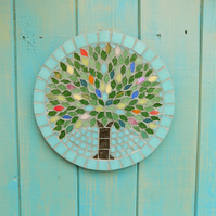 Summer Jewel Tree Hanging Garden Wall Plaque Decoration