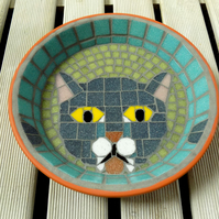 Mosaic Grey Lappy Cat Water Dish