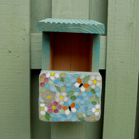 Butterfly and Blossom Mosaic Bird Nest Box