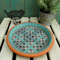 Herb Garden Mosaic Bird Bath