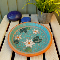Jade Mosaic Waterlily Pond Bird Bath