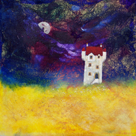 Scottish moonlit Castle giclee print