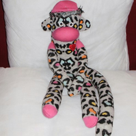 Leopard the sock Monkey RESERVED!