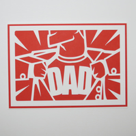 Fathers Day Birthday Super Dad Card