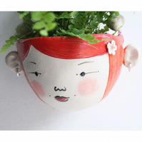 Ceramic indoor hanging planter- Wren hipster- planter ornament