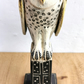 Ceramic Barn Owl sculpture - Owl on a plinth- small barn owl - owl art -