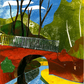 Canal at Dardy, near Crickhowell. Original Collage.