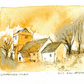 Llanfrynach Church, Pen, ink and watercolour.