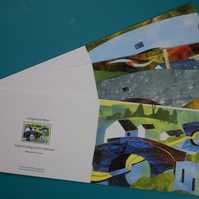 Set of Three Greeting Cards, Canal scenes.