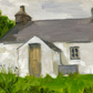 Small cottage painting. 5in x 7in.