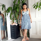 LOLA - upcycled and sustainable whimsical slip dress