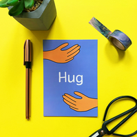Hug Postcard Sending love friendship illustration Postcard Long distance