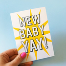 New Baby Card Congratulations card new baby New baby greetings card baby card
