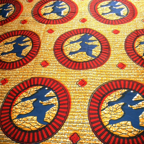 BATIK Genuine wax print 100 per cent cotton - 1 YARD fabric African soaring blue birds design