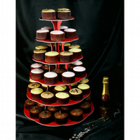 6 Tier Cup Cake Stand - 3 Colours available - Recyclable -