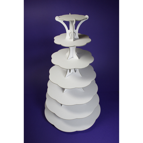 7 Tier Cup Cake Stand 4 colours available and recyclable