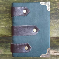 green leather bound journal notebook