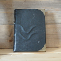 black leather bound journal notebook medieval binding