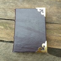 aubergine leather bound journal notebook medieval binding