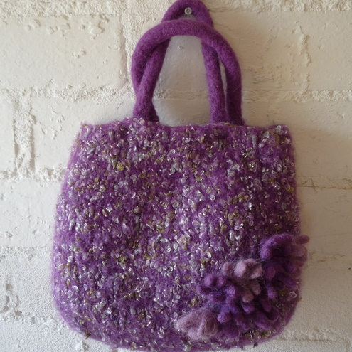Purple Felted Bag