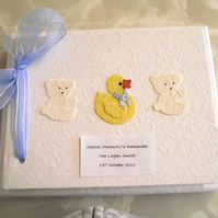 Personalised Baby Boy's First Year Memory Book/Album