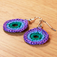 Crochet 'Bullseye' Earrings