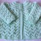 Hand Knitted Mint Green  Matinee Cardigan will fit 0-3 mths