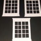 Card toppers - Window Frames