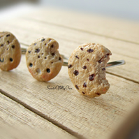Chocolate Chip Cookie Ring - Kawaii or Realistic - Choose Your Style - Adjustabl