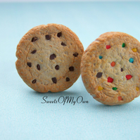 Cookie Ring - Chocolate Chip Cookie - Rainbow Cookie - Adjustable One Size - Cho