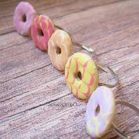 Biscuit Rings - Party Rings - Choose Your Colour - Adjustable Ring - Handmade in