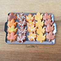 Miniature Halloween Biscuit Set - Gingerbread Tray 3 - Miniature Food - Bakery I