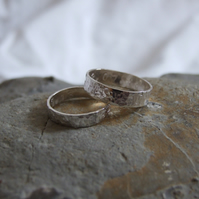 Silver wedding bands both 3mm thick