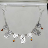 Handmade ancient greek inspired palmette necklace.