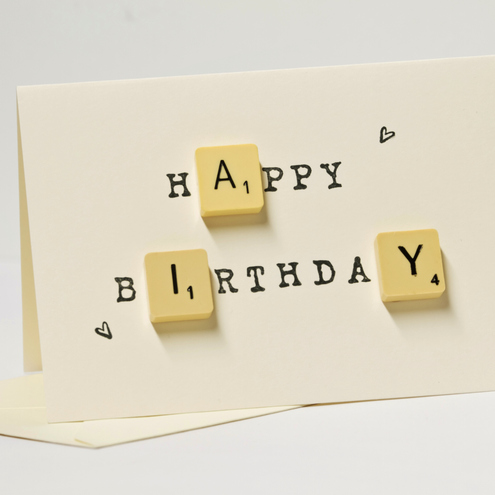 Happy Birthday Scrabble Card