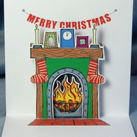Pop Up Christmas Card - Flaming Good Christmas